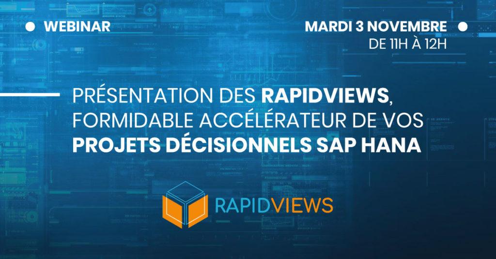 Webinar RapidViews 3 Novembre