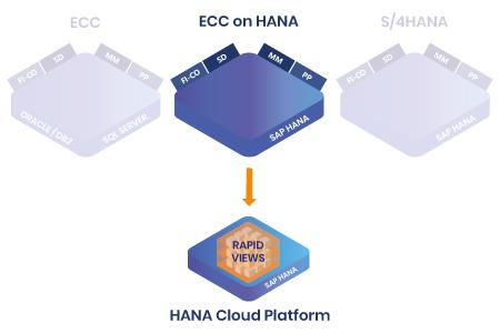 RapidViews ECC on HANA et HANA Cloud Platform