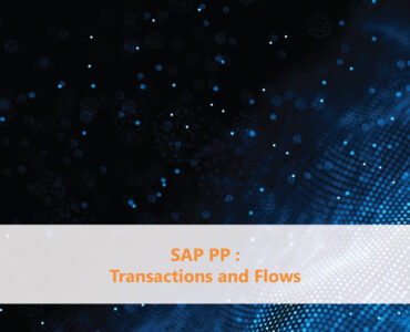 SAP PP Transactions and Flows