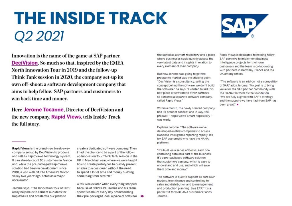 Article Rapid Views Inside Track SAP