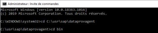 Configuration du DPA étape 1